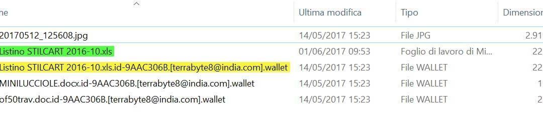Rimuovere e decriptare i file con estensione wallet